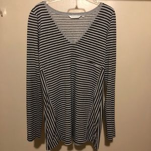 TopShop striped long sleeve tee